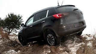Kia Sportage 2013, тест-драйв на бездорожье, off-road