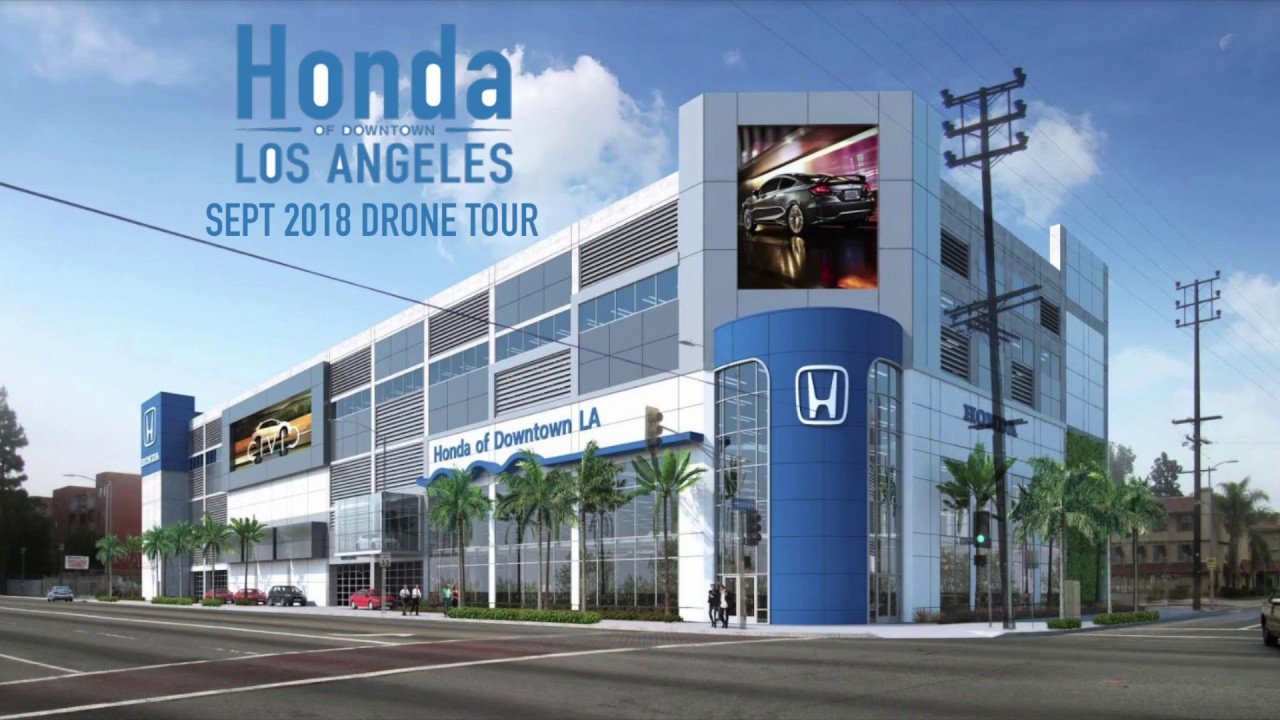 Honda Of Downtown LA Dealership Drone Tour | Next To LA Coliseum    Hmong.video