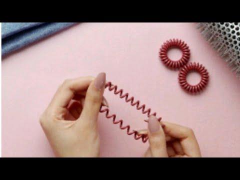 Как склеить резинку пружинку