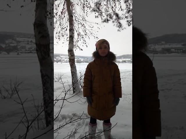 Изображение предпросмотра прочтения – ВарвараВарзина читает произведение «Берёза» Н.М.Рубцова