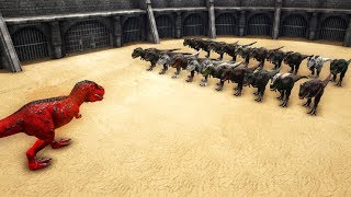 How many Rexes do you need to kill an ALPHA REX in ARK? || Cantex