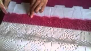 Pintando um barrado falso com renda