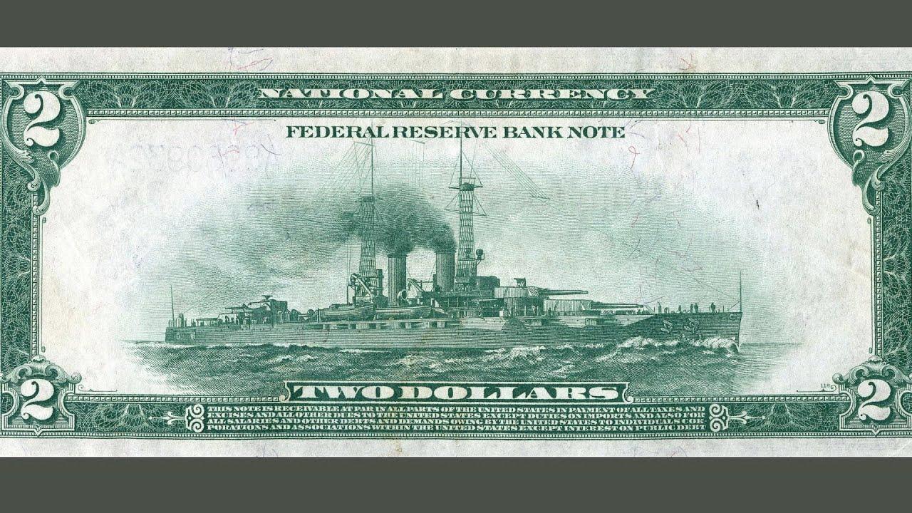 This $2 bill has a World War I battleship on the back - bonus from The Two  Dollar Bill Documentary