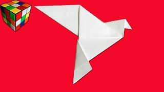 Как сделать голубя из бумаги! Голубь мира! Голубь Оригами своими руками! Поделки из бумаги.