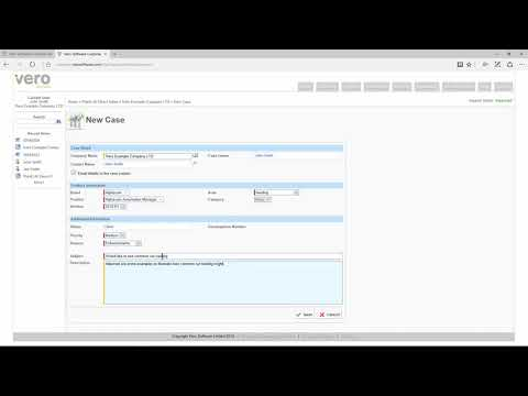 Creating a support case | Vero Customer Portal – Help