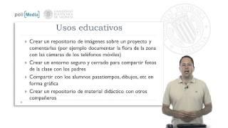 Tecnologías Educativas. Herramientas: Almacenamiento de imágenes.© UPV