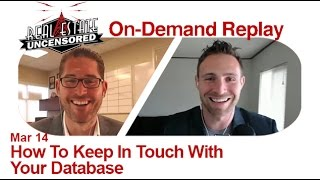 How To Keep In Touch With Your Database