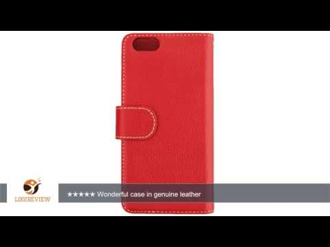 Melkco Premium Leather Wallet Book Type Case for Apple iPhone 6 - Retail Packaging - Red  