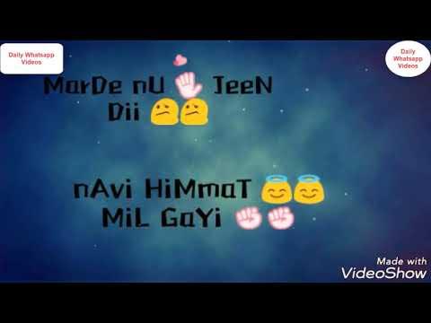 New Romantic Whatsapp Status | Tu Zindagi Vich Aayi M Hasna Sikh Liya Whatsapp Status