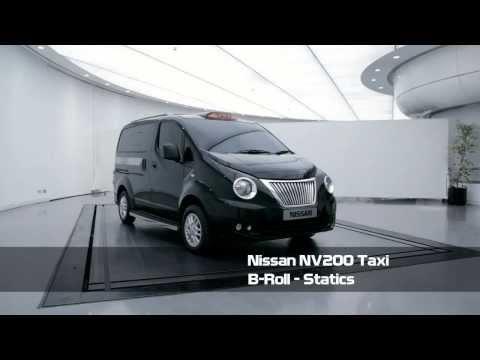 Nissan NV200 London Taxi B-Roll video