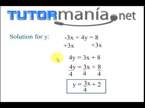 Math Lesson: Writing a linear equation into y=mx + b - YouTube