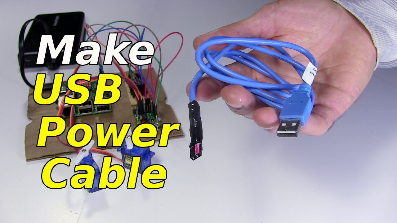 Make USB Power Cable  YouTube