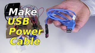 Make USB Power Cable - YouTubeYouTube