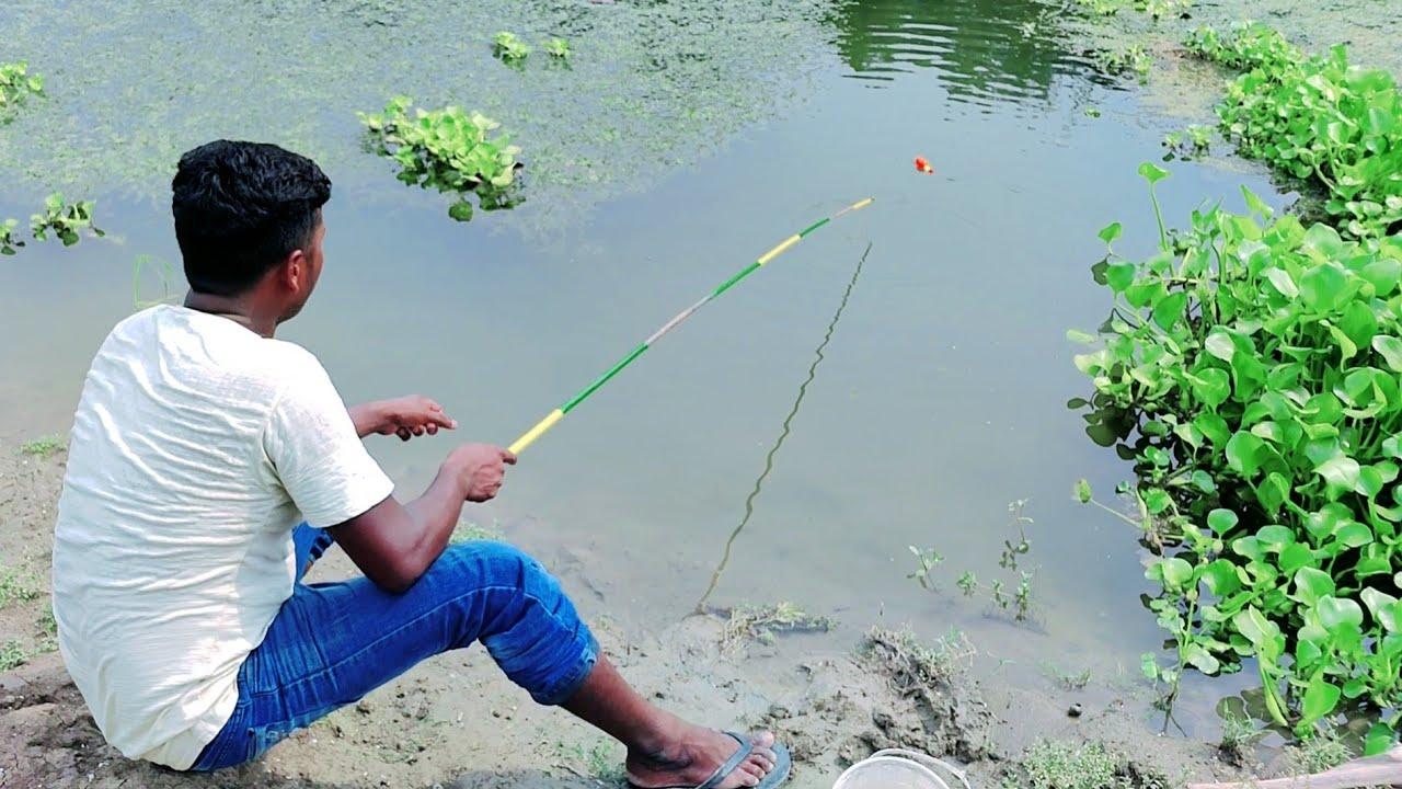Hook Fishing | Traditional Hook Fishing in Beautiful Natural River (Part-63)