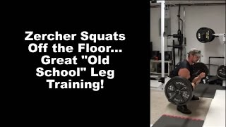 Hit Your Legs and Core HARD With Zercher Squats From the Floor