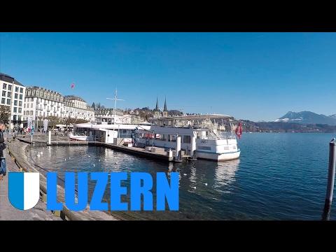A walk in Lucerne, Switzerland, Luzern, Schweiz