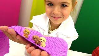 Игры с Барби - Щенки у собачки Эммы. Приключения Барби - Мультики для девочек