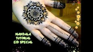 How To Apply Easy Simple Mandala Gol Tikki Henna Mehndi Designs For