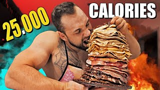 100 Pancakes Stack - 25 000 KCAL / Epic Meal