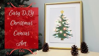 How To Stencil a Light-Up Christmas Tree Canvas in Minutes!