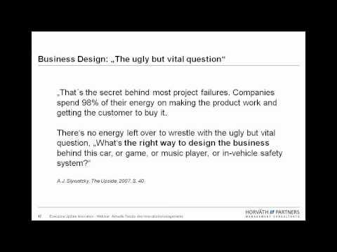 Webinar: Business Model Engineering (Aktuelle Trends des Innovationsmanagements)