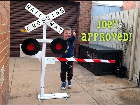 Diy Railway Crossing Boom Gate Youtube