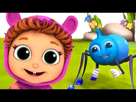 Itsy Bitsy Spider | Learn Persistence | Nursery Rhymes
