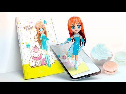 Live 4D notebook Sweet girls