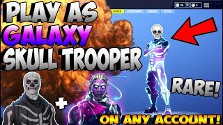 FORTNITE GLITCHES: HOW TO PLAY WITH *GALAXY SKULL TROOPER* SKIN! *WORKS IN GAME* (2018) *Patched*