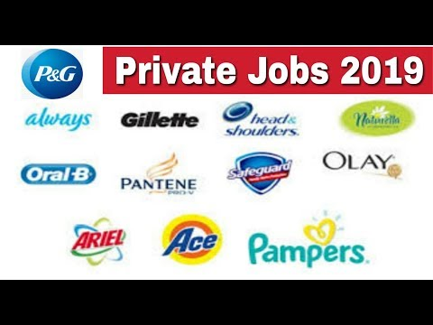 P&G Recruitment 2019 II Private Jobs 2019 Apply Online II Learn Technical