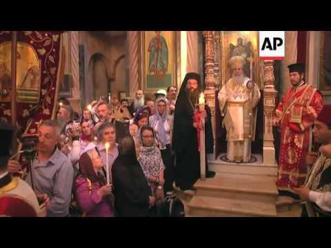 Orthodox Easter Mass in Jerusalem