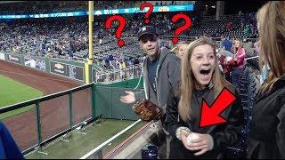 How did I NOT catch this baseball at Kauffman Stadium?!