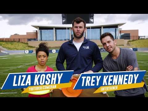 Football Trick Shots w/ Kirk Cousins, Liza Koshy, & Trey Kennedy | Brodie Smith