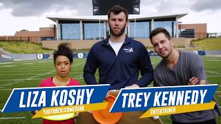 Football Trick Shots w/ Kirk Cousins, Liza Koshy, & Trey Kennedy | Brodie Smith