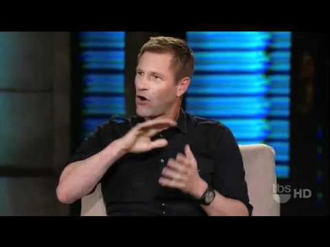 Aaron Eckhart Gets Talks About His USO Tour with Bradley Cooper on Lopez Tonight 3811