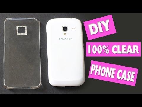 Easy DIY 100% Transparent Clear Phone Case + Skins - simplekidscrafts
