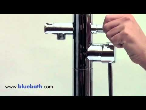 EAGO PL057 Tub Filler Faucet - Floor Mounted With Hand Held Shower Head