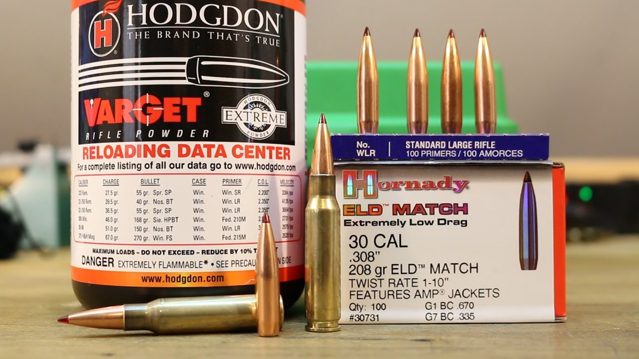 308 Win - 208gr Hornady ELD with Hodgdon Varget