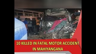 10 including twins killed in fatal motor accident in Mahiyangana