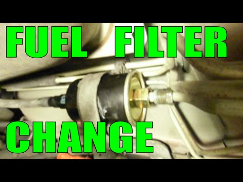 change FUEL FILTER replacement - the easy and fast way - most cars trucks vans SUVs gm