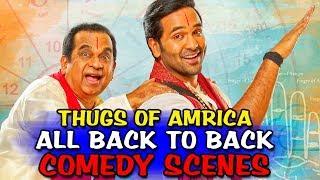 Thugs Of Amrica All Back To Back Comedy Scenes | Brahmanandam & Vishnu Manchu Comedy Scene