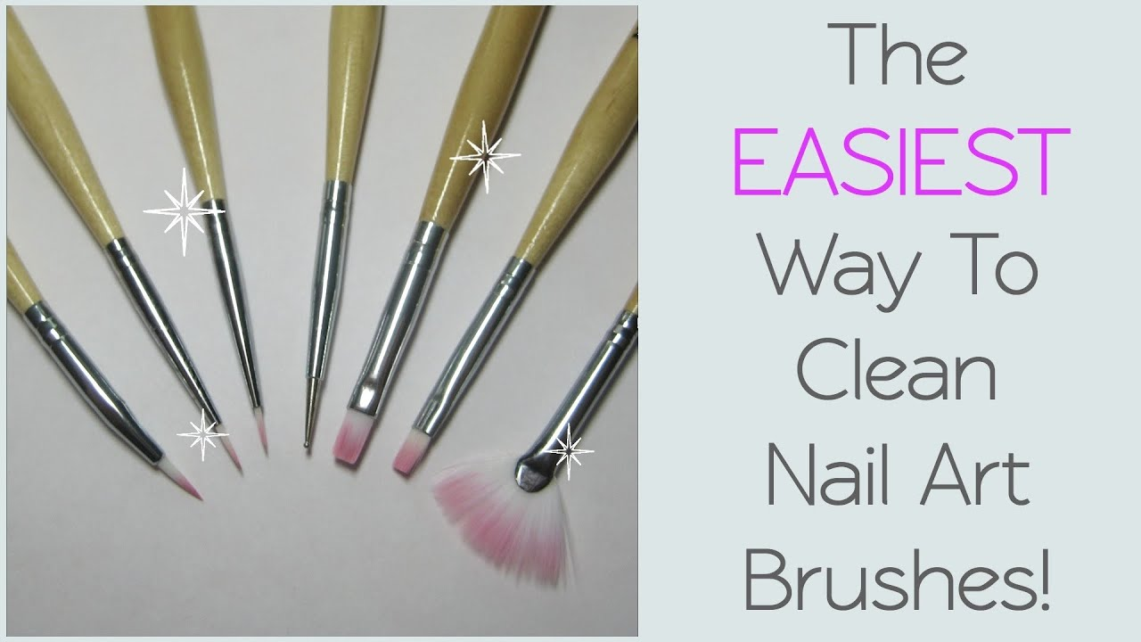 Diy How To Clean Nail Art Brushes Youtube