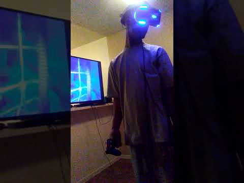 Doing Virtual Reality for the first time..on the VR goggles