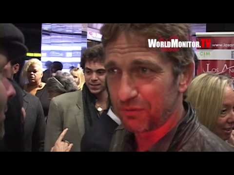 Gerard Butler on being inspired by Al Pacino leaving LA Italia Film Festival 2013