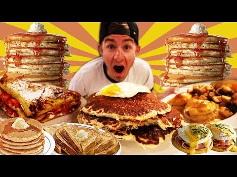 THE MONSTER PANCAKE BREAKFAST CHALLENGE! (12,000+ CALORIES)