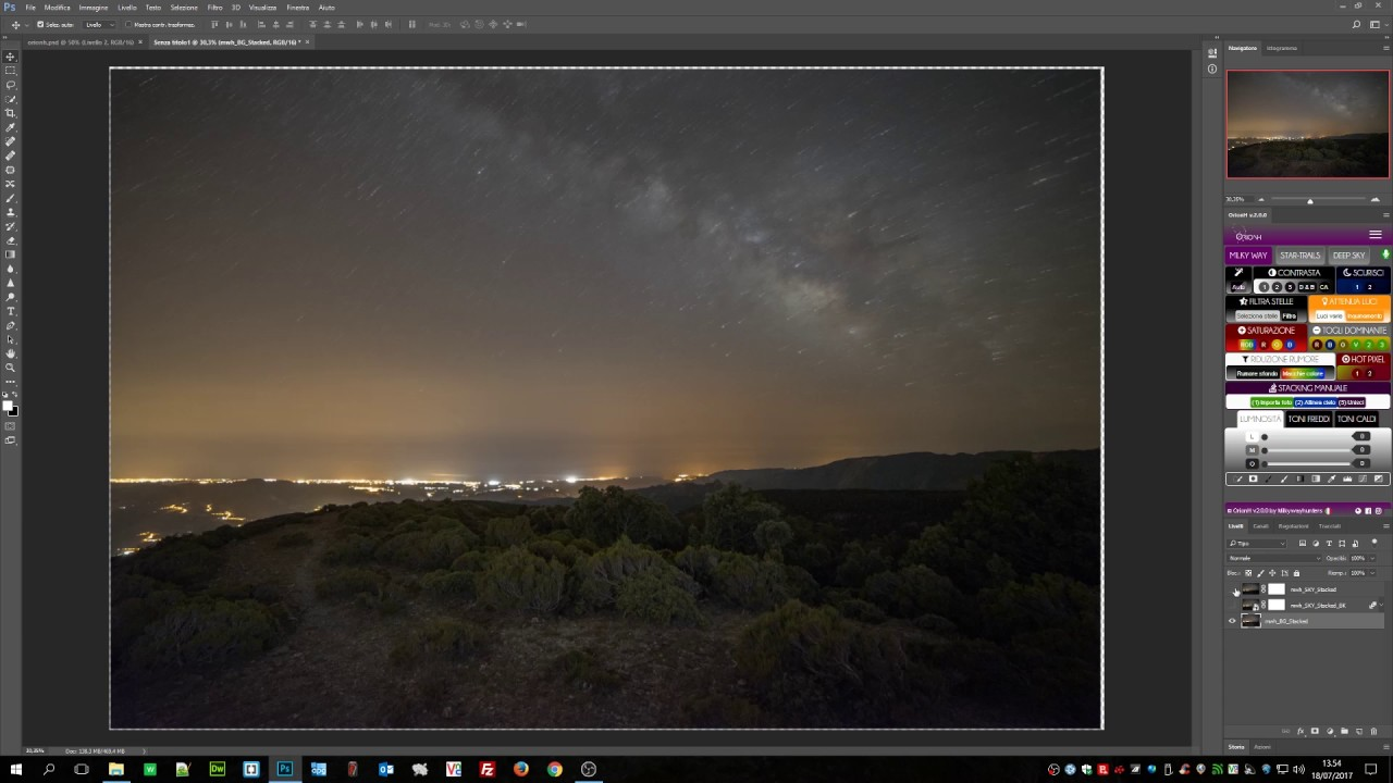 ORIONH - Stacking Milky Way, hot pixel removal and green removal by  MILKYWAY hunters