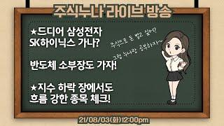21/08/03(화)주식누나 주식라이브방송 주식동기부여…
