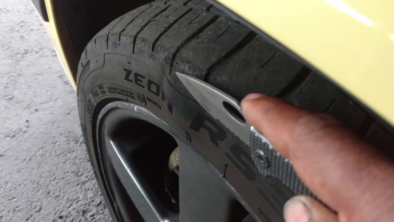 Removing an egg from the sidewall of your car tire  - VOTD