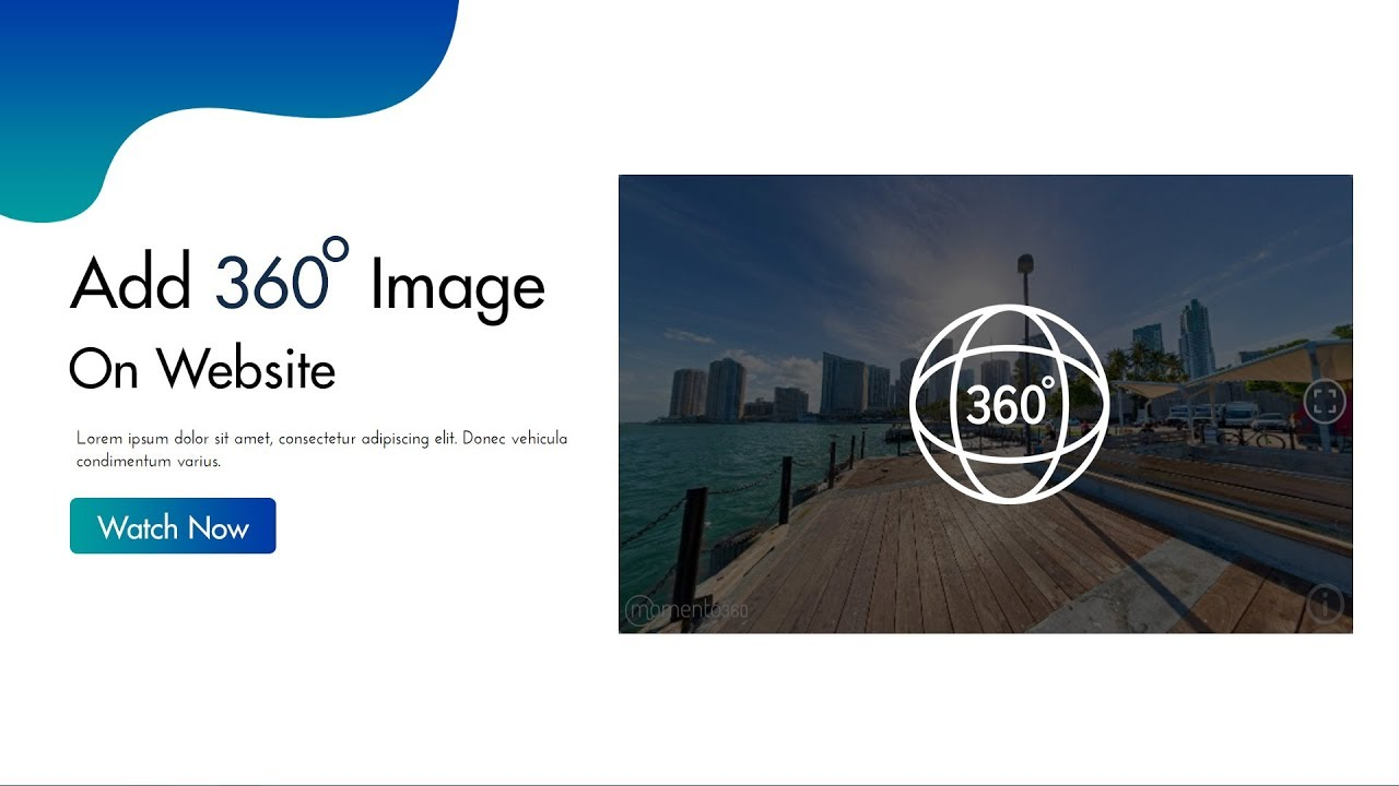 How To Add 360 Degree Images on HTML Website | Embed 360° Images On website