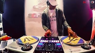 DJ Puffy, the 2016 Red Bull Thre3style World Champion, puts down a ...
